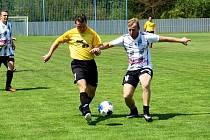 Vilémov B (ve žlutém) v přípravném utkání proti Horním Podluží.