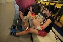 Ve sportovní hale tekla krev, o život ale nešlo