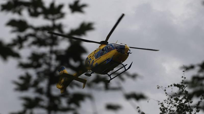 Do Jiříkova letěl vrtulník.