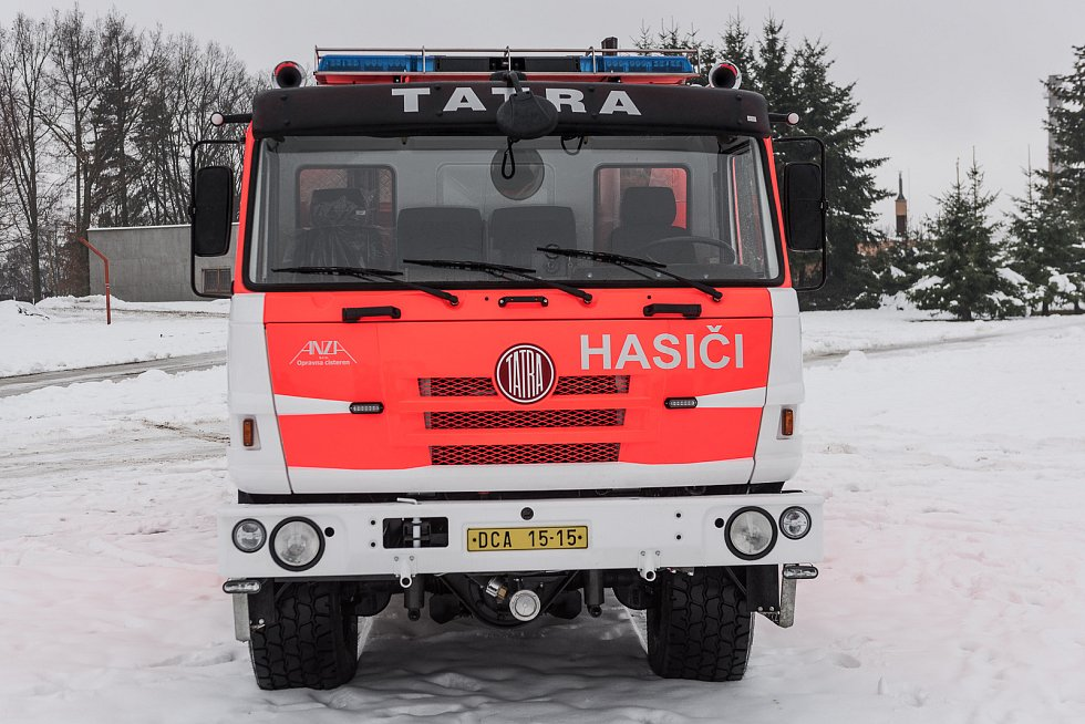 Tatrovka dobrovolných hasičů z Rumburka prošla generální opravou.