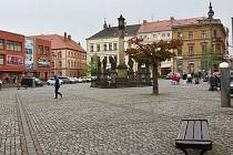 Lužické náměstí v Rumburku. Ilustrační foto.