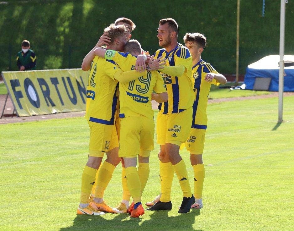 Fotbalisté Varnsdorfu doma remizovali s Hradcem Králové 1:1.