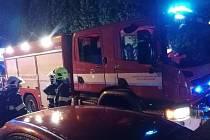 Zásah hasičů v Děčíně - Bynově.