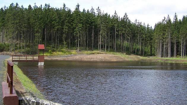 V okolí Mlýnů u Kytlic za poslední dva roky vyrostla uprostřed lesů krásná vodní nádrž o rozloze asi 1,2 ha