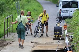 Oprava Labské cyklostezky.