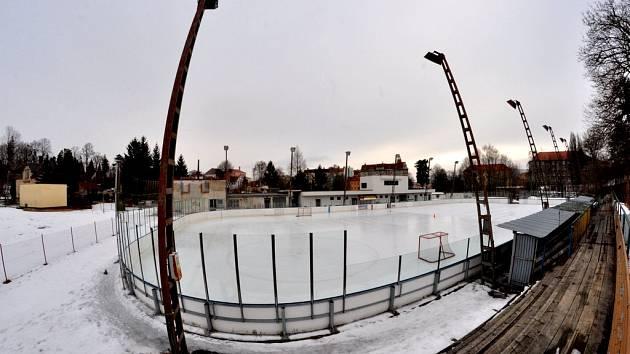 SOUČASNÁ PODOBA zimního stadionu ve Varnsdorfu.