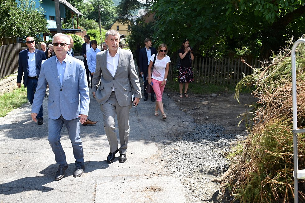 Premiér Andrej Babiš navštívil děčínskou městskou část Bělá.