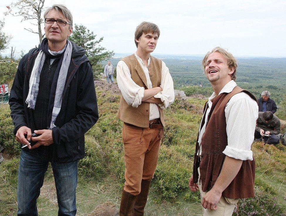 Natáčení pohádky Tři bratři v režii Jana Svěráka na Sněžníku, srpen 2013.
