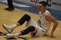 Basketbalisté BK ARMEX Děčín. Na ilustračním snímku křídelník Tomáš Pomikálek.