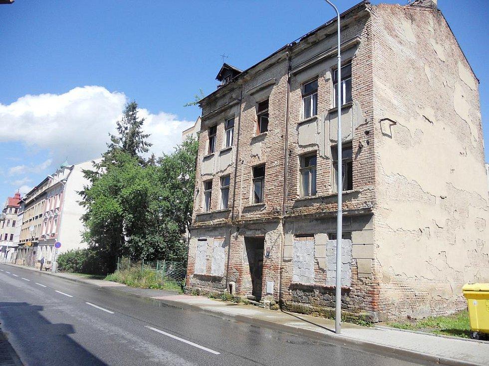 Ruina v Děčíně.