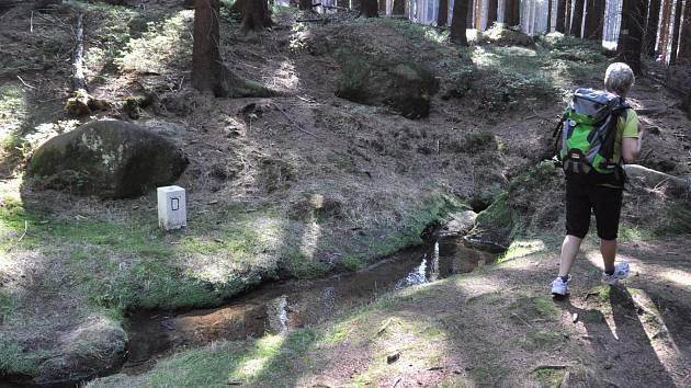 Hraniční potok nejsevernější bod - Lobendava.