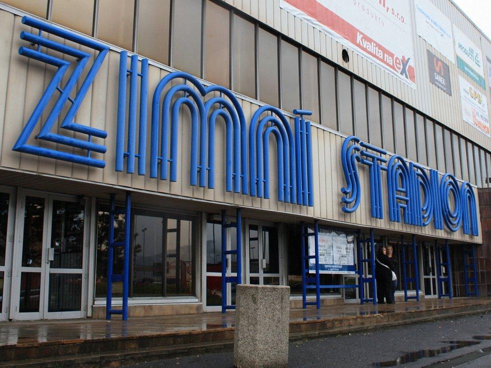 Zimní stadion v Děčíně.