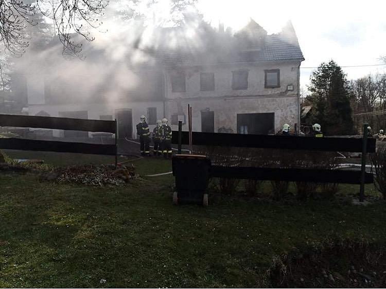 Požár ve Verneřicích.