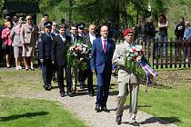 Pietní akt k 74. výročí konce 2. světové války v Rabštejně.
