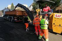 V Děčíně - Bynově opravují Rudolfovu ulici.
