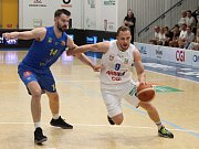 První zápas čtvrtfinále basketbalové ligy mezi Děčínem a Opavou.