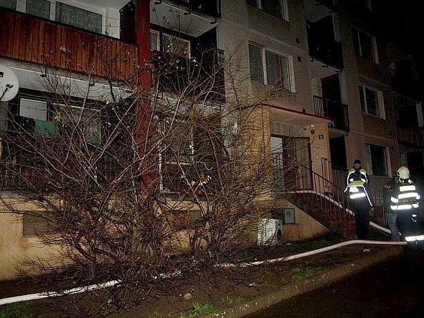 Noční požár v Děčíně Boleticích