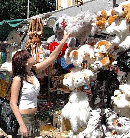 Děčínské trhy v ulici Prokopa Holého