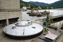 Energetici se připavují na generální opravu rychlouzávěru (stavidla) ve Vodní Elektrárně Střekov v Ústí nad Labem