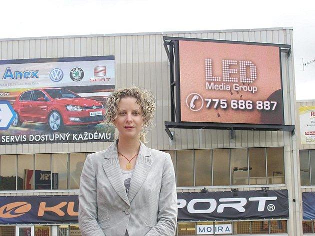 Jednatelka společnosti Led media group Regina Prokešová.