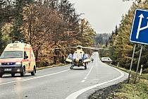 Vážná nehoda pod kopcem Šébr na Děčínsku