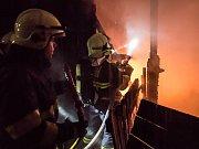 Požár v Mikulášovicích.