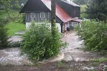 Velká voda v Merbolticích.