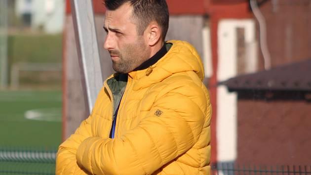 ÚSPĚCH. Trenér David Oulehla je spokojený, Varnsdorf přezimuje na čtvrté místě.