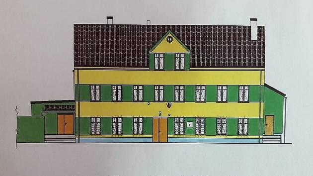 Takto by měl dle projektové dokumentace nově vypadat františkovský kulturní dům.