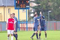 VÝMLUVNÝ OBRÁZEK. Zatímco Šluknov ztratil další zápas v sezóně, Horní Podluží se radovalo z vítězství.