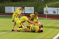 RADOST fotbalistů FK Varnsdorf.