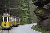 Tramvaj na trati z r. 1898.