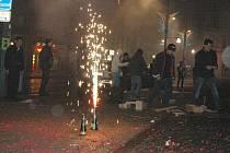 Novoroční oslavy na Mírovém náměstí