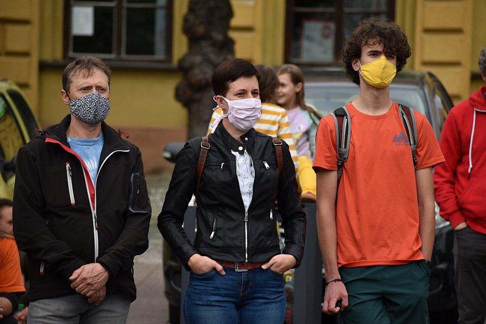 V Děčíně se sešli lidé k dalšímu protestu proti vládě Andreje Babiše.
