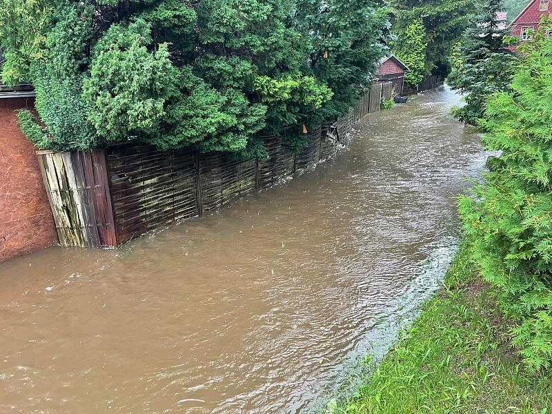 Déšť na Děčínsku.