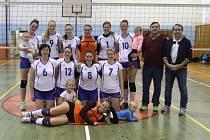 DVĚ VÝHRY. Volejbalistky spojeného týmu Děčína a Rumburka mají další dvě vítězství.