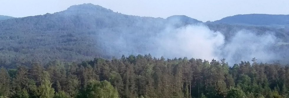 Požár v národním parku poblíž Vysoké Lípy