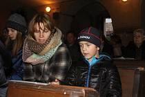 Vánoční zpívání v Dolním Žlebu.