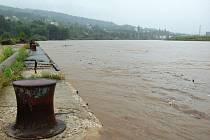 Velká voda v Děčíně - Srpen 2010