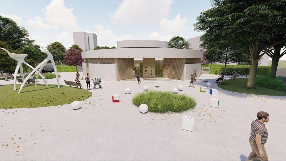 Vizualizace nové školky ve Varnsdorfu.