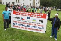 Protest starostů ve Šluknově 19.7.2012