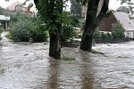 Velká voda ve Šluknově.