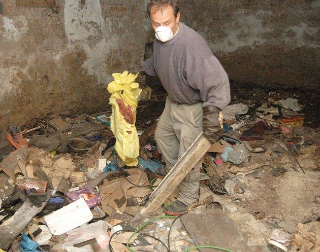 Úklid sklepních a půdních prostor v Krokově ulici v Děčíně