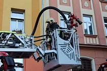 Požár bytu v Děčíně - Dolním Oldřichově.