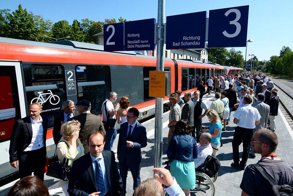 Mezi Dolní Poustevnou a Sebnitz znovu jezdí vlaky.