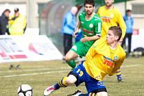 VASIL ZŮSTÁVA. Jedním z hráčů, které vedení Slovanu udrželo, je i ofenzivní krajní záložník Pavlo Rudnytskyy (na snímku z utkání v Hlučíně).