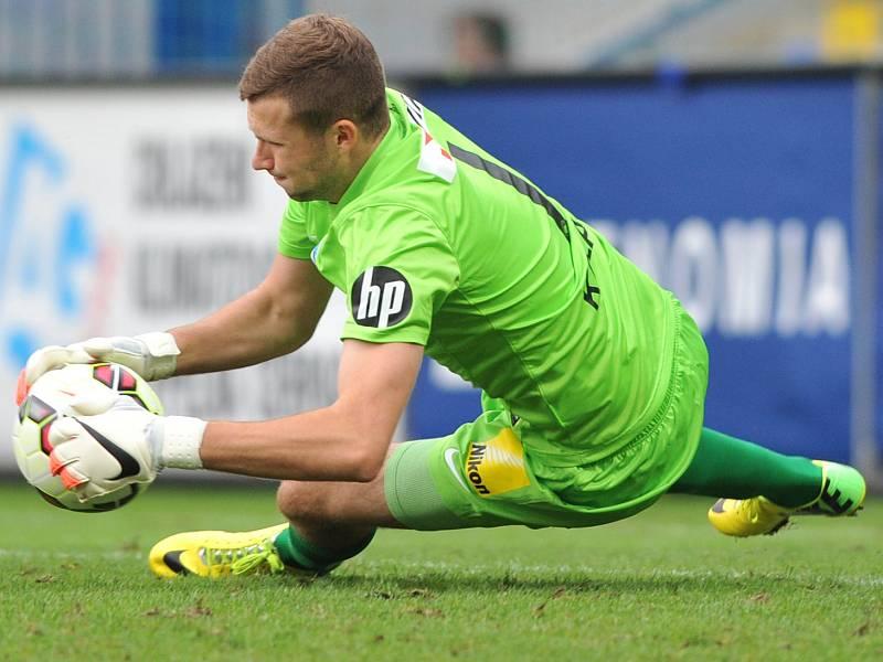 Ondřej Kolář pomohl Varnsdorfu k remíze proti Baníku.