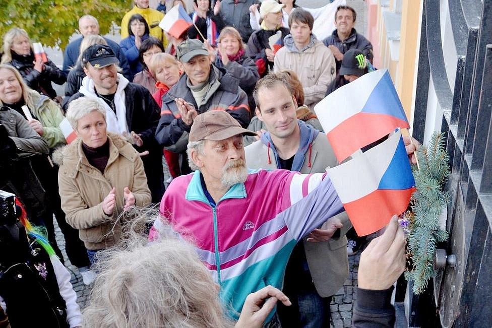 Varnsdorská demonstrace 28.10. 2011