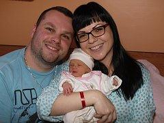 Michale Antonijové z Varnsdorfu se 27. prosince ve 2.15 v rumburské porodnici narodila dcera Laura Vašková. Měřila 45 cm a vážila 2,47 kg.