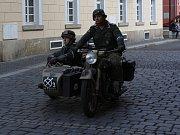 Historická vojenská vozidla v Rumburku.